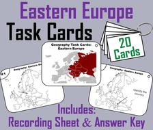 Eastern Europe Task Cards
