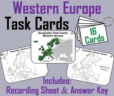 Western Europe Task Cards
