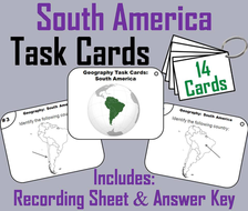 South America Task Cards