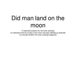 moon landings lesson