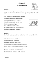 spanish daily routine worksheet mi rutina by roisin89 teaching resources. Black Bedroom Furniture Sets. Home Design Ideas