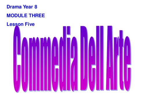 KS3 Drama: Commedia Dell Arte Scheme of Work