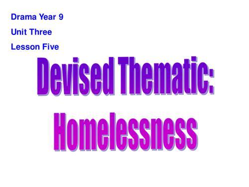 KS3 Drama: Devising Using Frantic Assembly on the theme of Homelessness