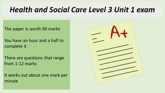 BTEC Health and Social Care Level 3 Unit 1 Exam Skills powerpoint