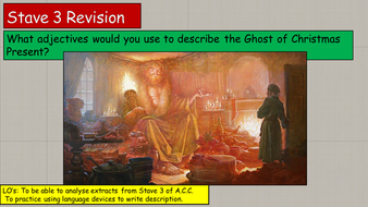 GCSE A Christmas Carol Stave 3 Revision | Teaching Resources