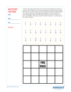 KS2 Multiplying Fractions Worksheets & Activities