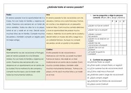 spanish ks3 gcse holidays reading comprehension preterite past tense by rl6 teaching resources. Black Bedroom Furniture Sets. Home Design Ideas