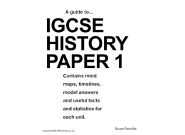IGCSE History Paper 1 model answers and techniques by