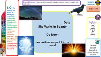 She walks in beauty analysis essay