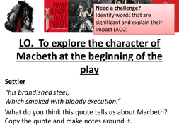 Macbeth Revision AQA New Spec - Macbeth at the beginning