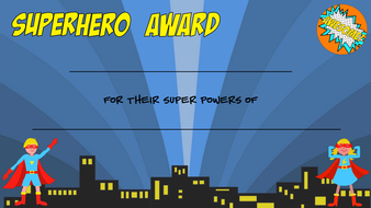 Superhero Award Certificates - generic by Fairydoesit ...
