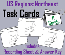 US Geography Task Cards: Northeast Region of the United States