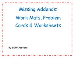 MissingAddendsWorkMatsProblemCardsandWorksheets.pdf