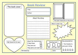 Ks1 2 Book Review Blank Template By Newromantic Teaching
