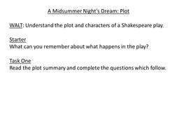 plot of midsummer nights dream