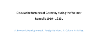 Golden Years of Weimar Republic