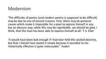 Modernism---quotations.pptx