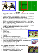 Touch Rugby rules- simplified