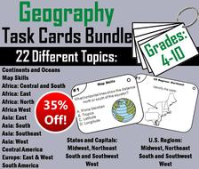 Geography Task Cards Bundle