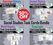Social Studies Task Cards Bundle