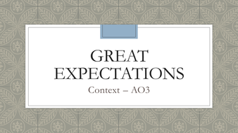 Great Expectations context (GCSE English Literature AO3)