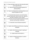OCR 21st Century Science Chemistry (C4, C5, C6) Revision questions