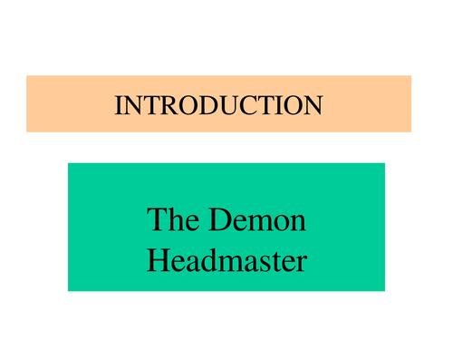 KS3 Drama: Full Scheme of Work: The Demon Headmaster