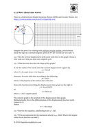 Simple harmonic motion - sine and cosine function