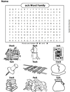 ack Word Family Word Search