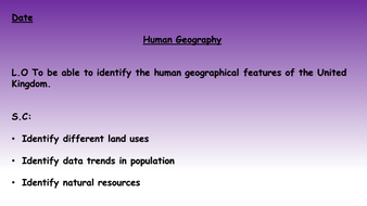 Human Geography of Britain