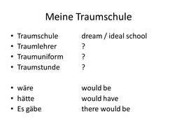 Traumschule / dream school speaking activity
