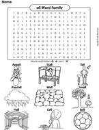 all Word Family Word Search