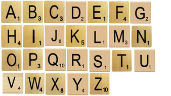 scrabble tiles for display purposes