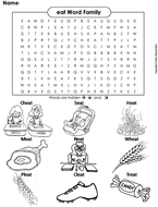 eat Word Family Word Search