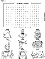 ell Word Family Word Search