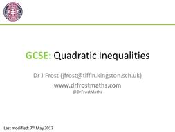 GCSE Quadratic Inequalities