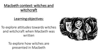 Macbeth Act 1- key scenes, characters and context