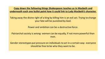 Macbeth Act 5 key scenes, context and characters