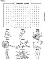 ine Word Family Word Search