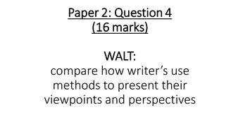 Paper 2, Question 4 (AQA Lang, new spec)