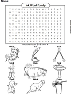 ink Word Family Word Search