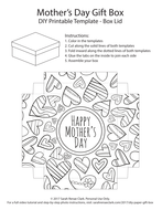 Diy mothers day gift box template printable pdf template to color mothers day gift box 05pdf negle Gallery