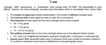 H Nmr Session A2 With 2016 Ocr Example Q S Teaching Resources