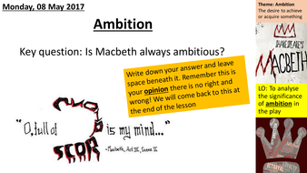 ambition in the play macbeth
