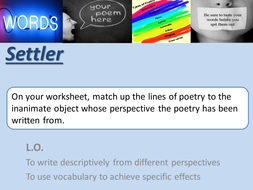 Descriptive Writing from different perspectives