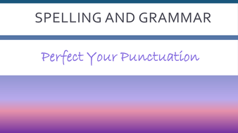 spelling punctuation and grammar revision quiz for SATS