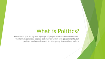 Meaning of Politics and Governmant
