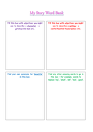 Story word bank template for thesaurus/synonym activity