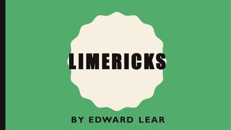 Limericks by Edward Lear: PPT, poem and worksheets