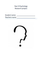 Year 9 OCR Research Project Booklet